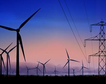 electricidad de energía limpia
