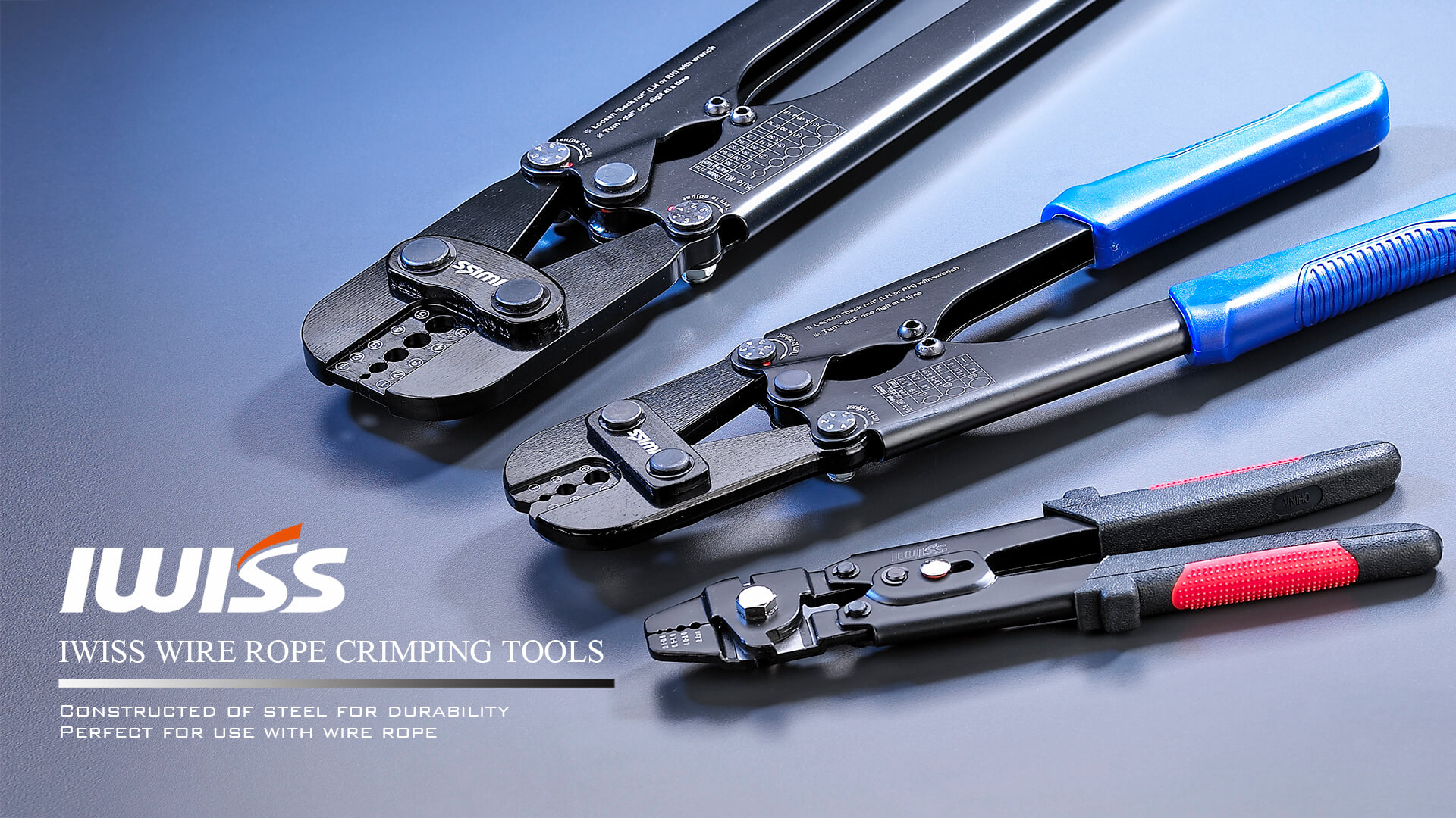 IWISS WIRE ROPE CRIMPING TOOL