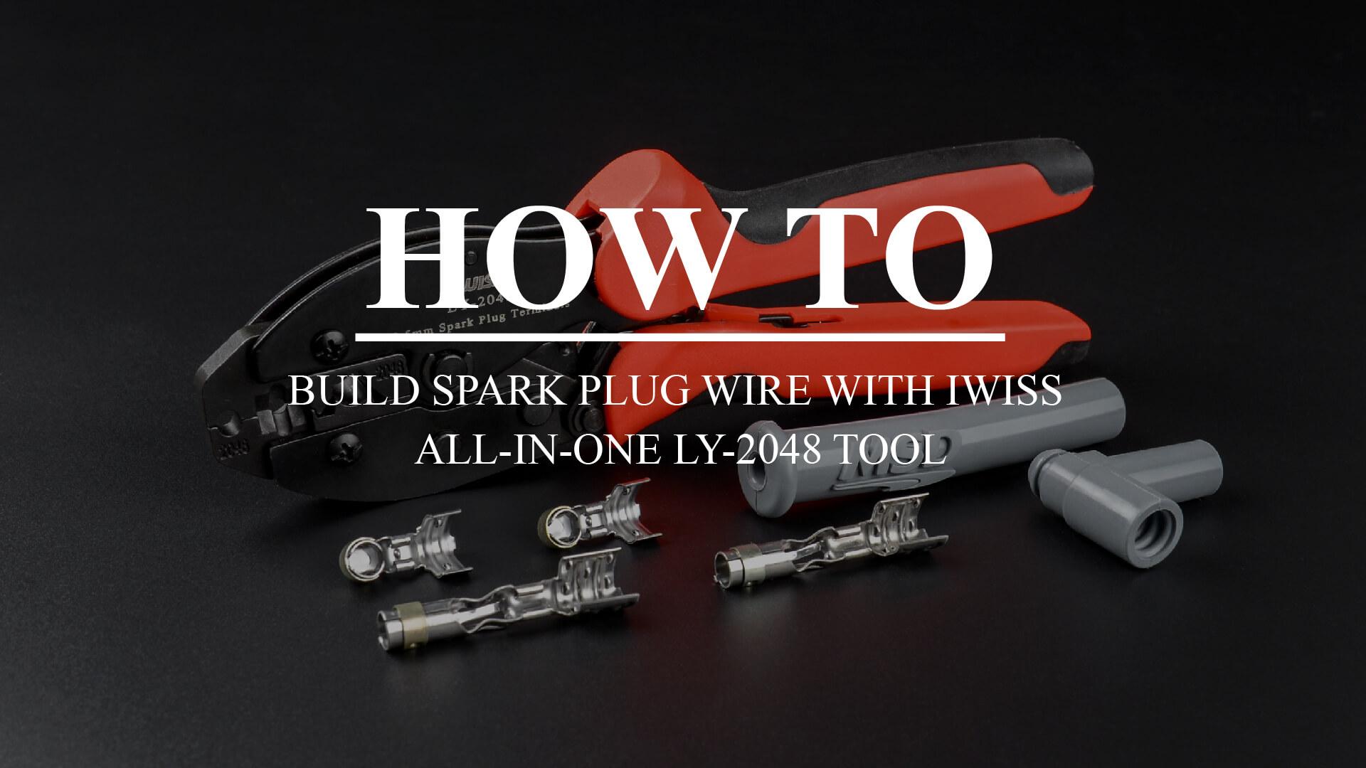 IWISS Ratchet Spark Plug Wire Crimper for Spark Plug Ignition Wire
